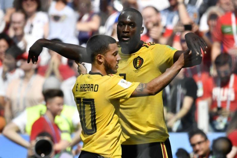 Звезды бельгийской сборной - Азар и Лукаку очень часто празднуют голы таким совместным жестом.