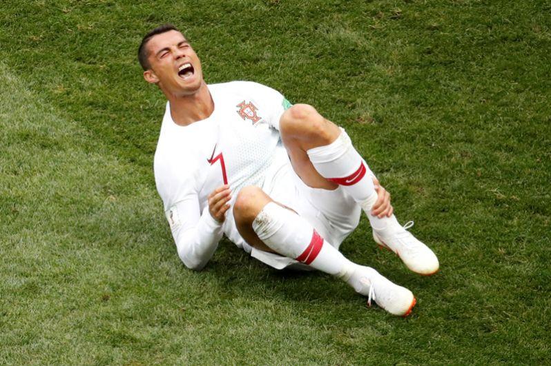 Криштиану Роналду (Португалия) в матче против Марокко.
