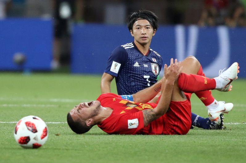 Эден Азар (Бельгия) во время игры против сборной Японии.