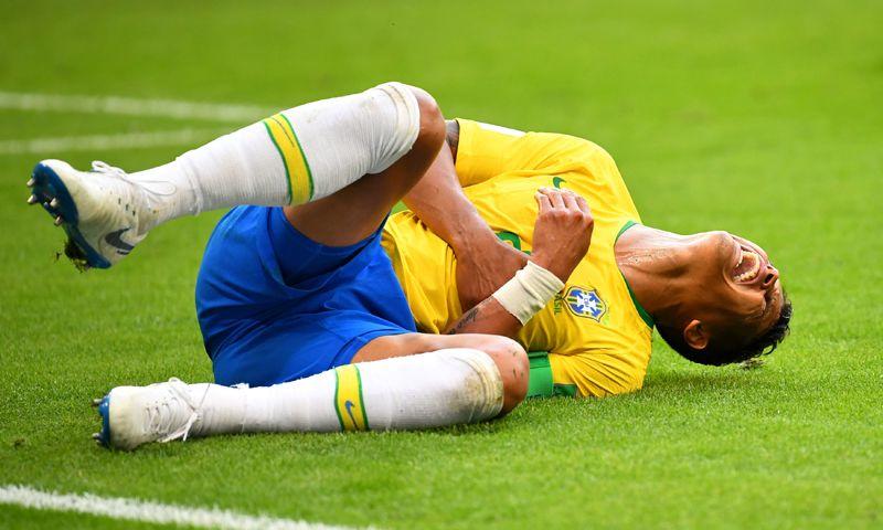 Тьяго Силва (Бразилия) в матче против Мексики.