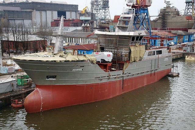 Новый траулер «Ленинец» был построен в Калининграде в 2017 году.