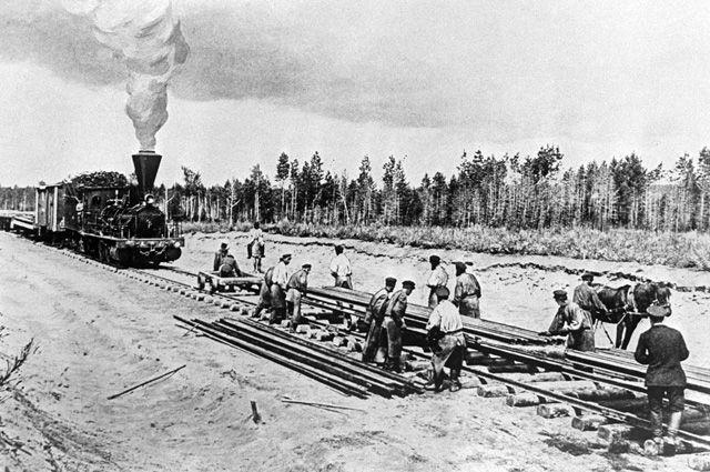 Строительство западного участка Транссибирской магистрали - Среднесибирской железной дороги от реки Обь до Енисея, (1893-1899 гг.).