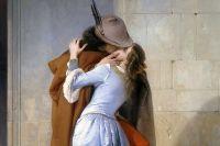 """""""Поцелуй"""", картина Франческо Айец, 1859 год."""