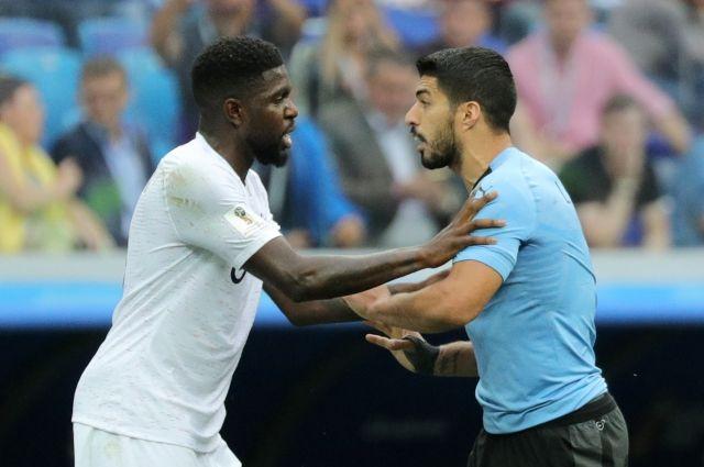 Сборная Франции обыграла Уругвай и вышла в полуфинал.