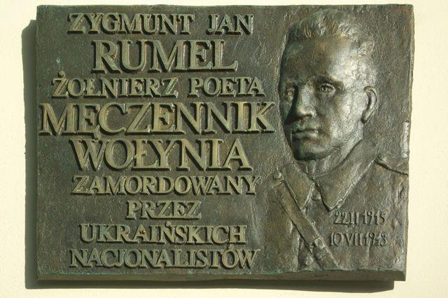 Мемориальная доска, посвященная памяти Зигмунта Румеля в Варшаве.