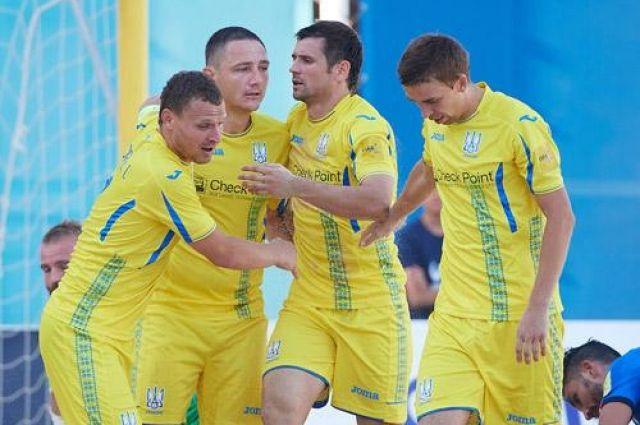 Украинская сборная по пляжному футболу одержала победу над Португалией