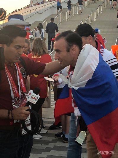 Граждане Испании теперь болеют за российских футболистов.