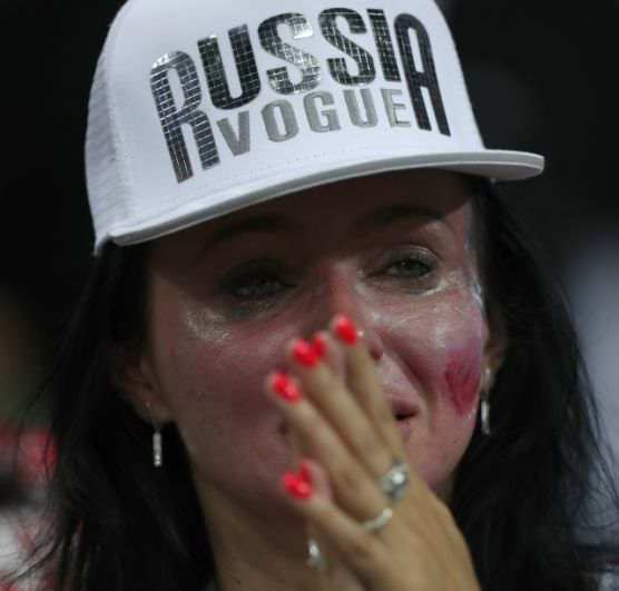 Болельщица сборной России.