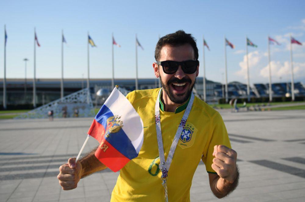 Бразильские болельщики как всегда задавали настроение празднику спорта.