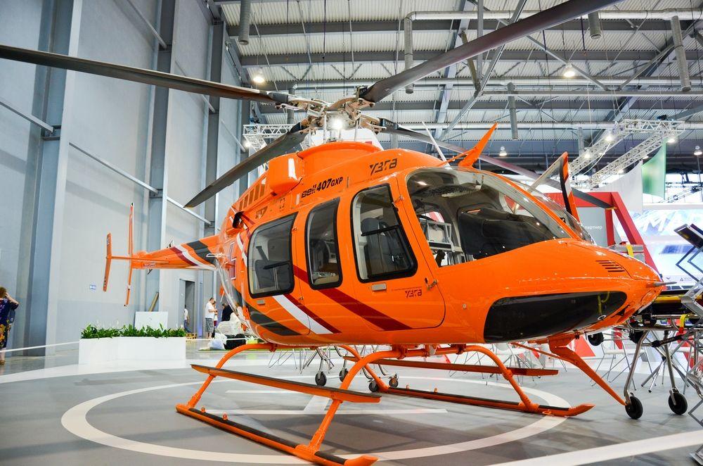 Вертолет от Уральского завода гражданской авиации.