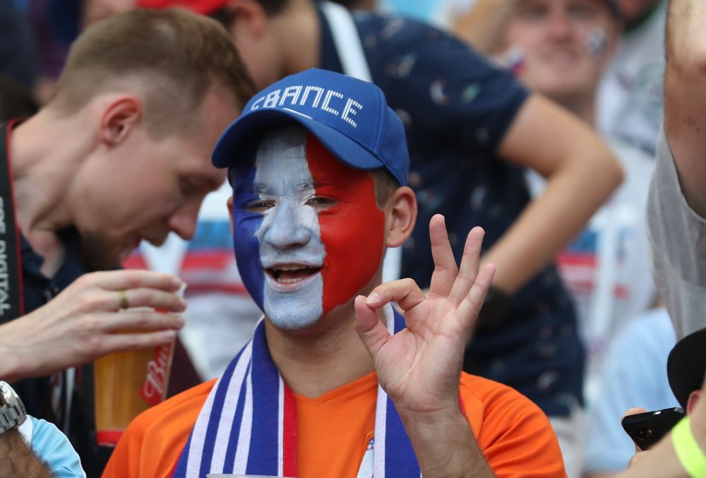 Французские болельщики. Франция на этом ЧМ сыграла в Казани дважды.