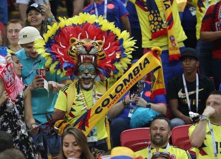 Болельщики на мачте Польша - Колумбия.