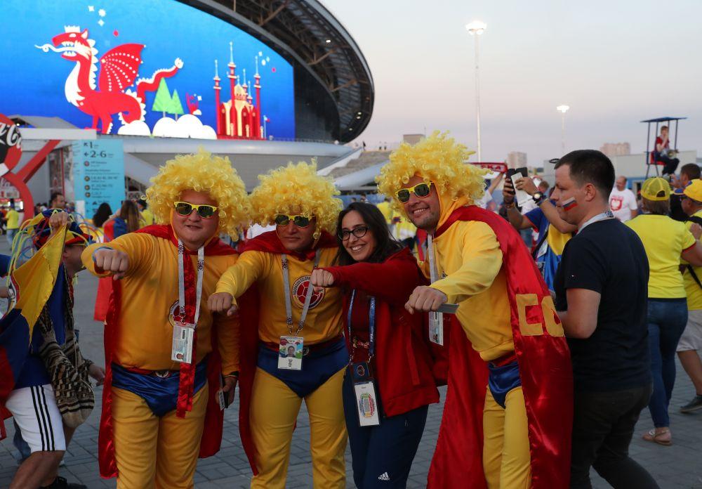 Такого обилия разнообразных костюмов, как у колумбийских болельщиков, вообразить было сложно.