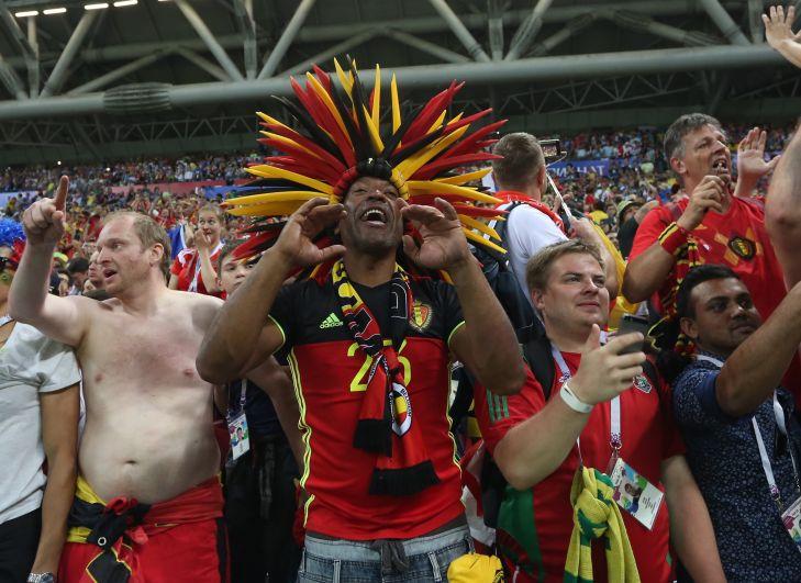 Болельщики сборной Бельгии 6 июля во время матча с Бразилией.