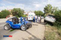 В Орске в ДТП с Toyota RAV4 и квадроциклом пострадали водители.
