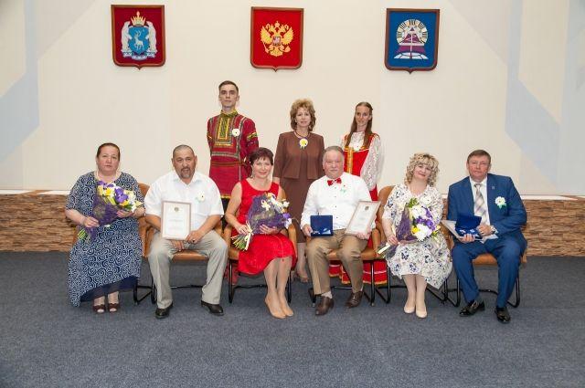 В Ноябрьске девять семей наградили за любовь