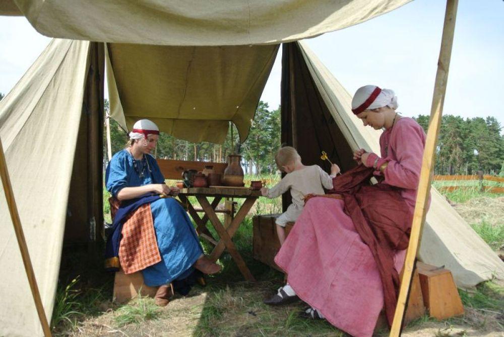 Исторический лагерь. Быт наших предков.