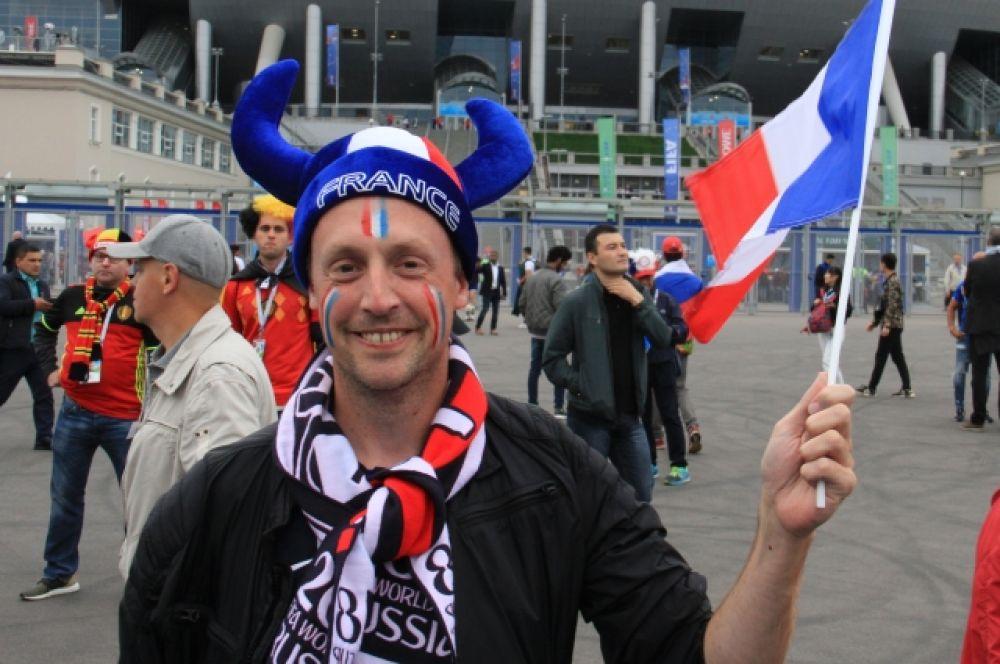 Французы рады, что их сборная в полуфинале!