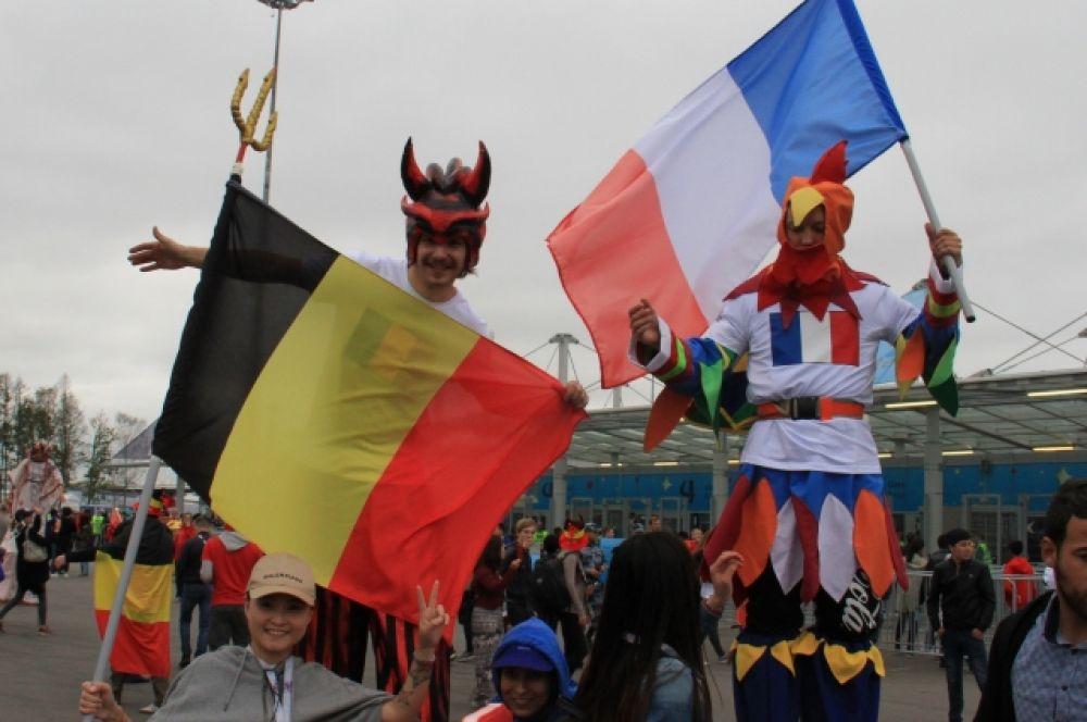Бельгия и Франция встретились в полуфинале ЧМ-2018.