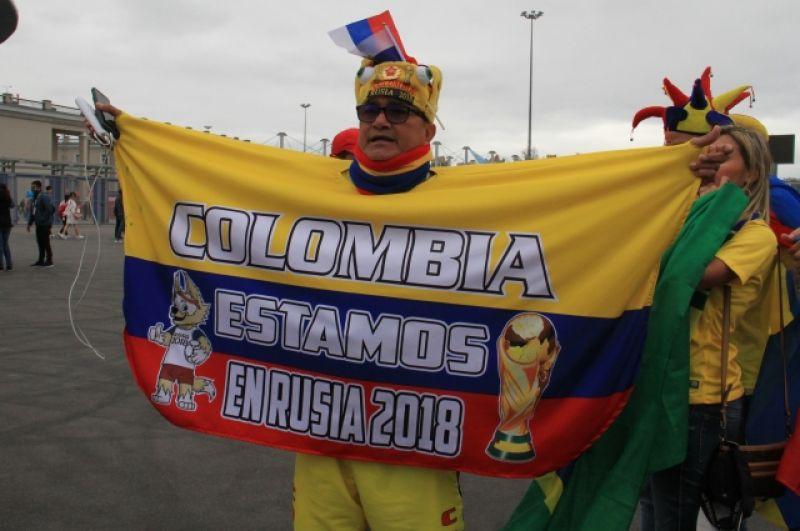 Колумбия уже покинула ЧМ, но болельщики остались на празднике футбола.
