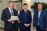 Александр Бурков представил сотрудникам министерства строительства и ЖКХ Омской области нового руководителя.