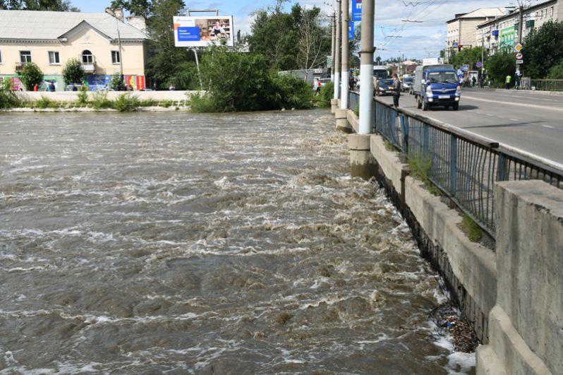 Мост на улице Комсомольская через реку Читинка.