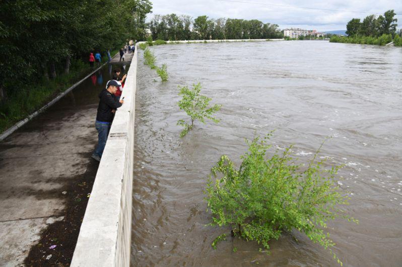 Повышение уровня воды в реке Читинка.
