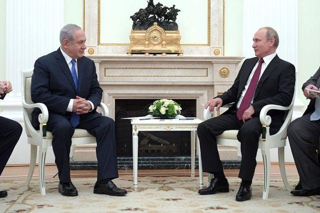 Путин встретился с премьером Израиля Нетаньяху, приехавшим на ЧМ-2018