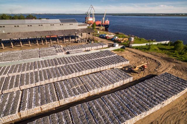 Такие сетчатые изделия будут использоваться для укрепления дна Майского порта.