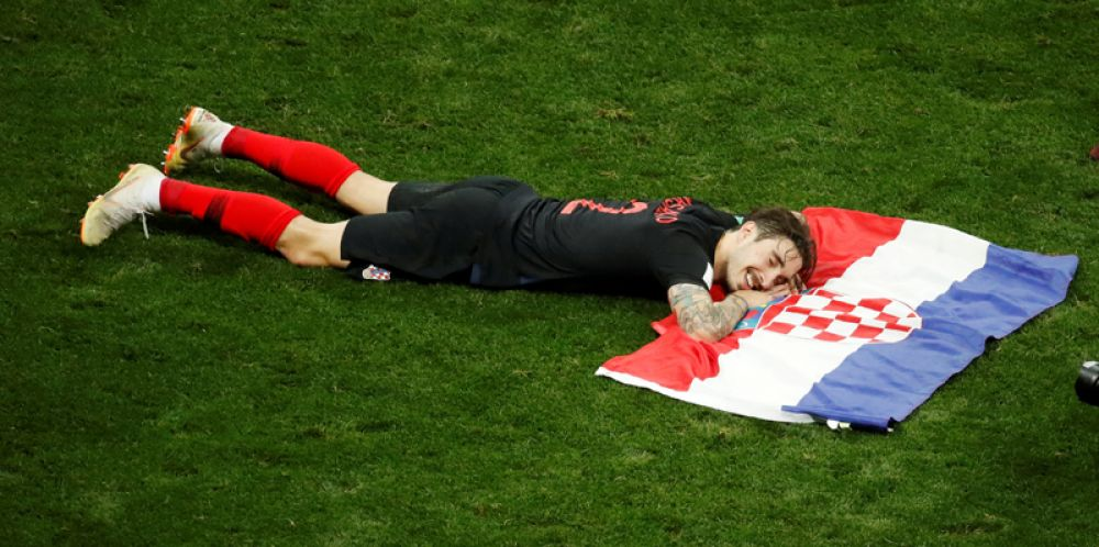 Хорватский футболист Шиме Врсалько после матча со сборной Англии.