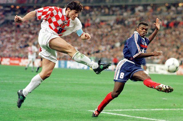 Матч Франция - Хорватия в полуфинале Чемпионата мира по футболу - 1998.