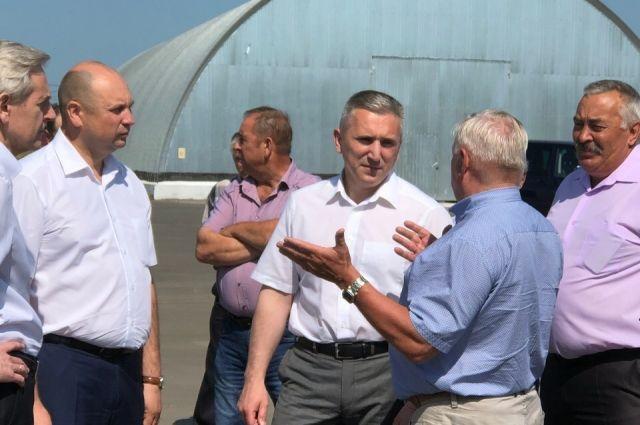 В Абатский район с рабочим визитом прибыл Александр Моор