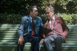 Леонид Брежнев и Ричард Никсон в Ореанде, Крым, 1972 г.