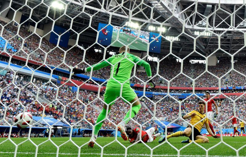 Первый гол в ворота англичан.