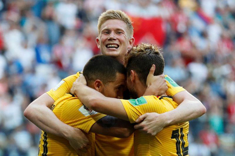 Бельгийцы радуются второму голу.