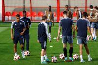 Тренировка сборной Франции.