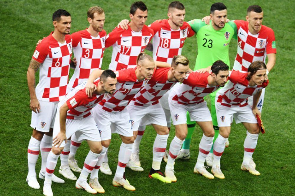 Игроки сборной Хорватии.