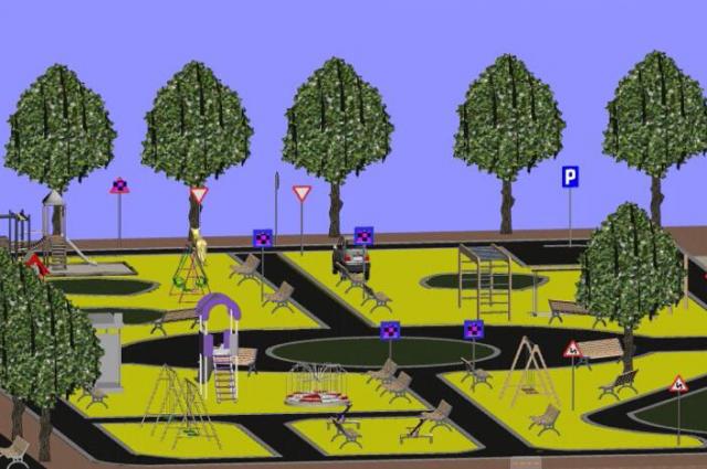Проект детского парка в Степном Озере