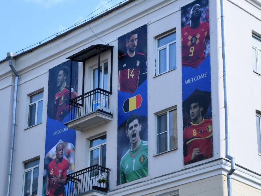 Футболисты сборной Бельгии удостоились вот таких портретов.