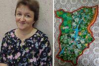 Карту Пермского края из лоскутков мастерица делала два дня.