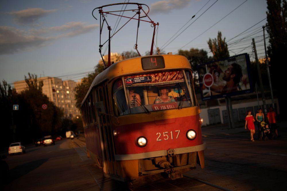 Городской трамвай, Волгоград.