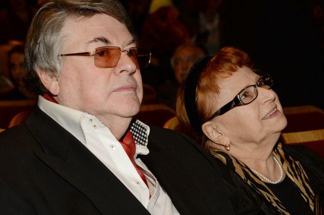 Александр Ширвиндт с супругой. 2014 год.