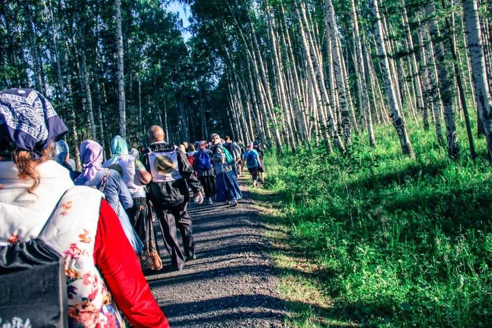 Добираться до урочища пришлось через лесную дорогу