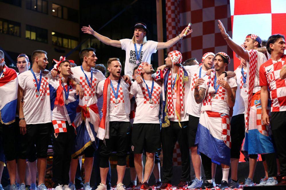 Сборная Хорватии по футболу.