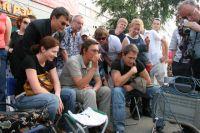 Рабочий момент съемок сериала в Челябинске.