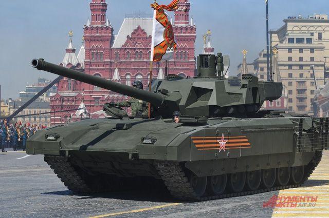 Танк «Армата» на Красной площади в Москве.