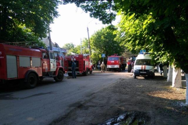 На улице Зорге горела пятиэтажка.
