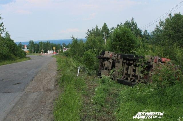 ДТП произошло утром на трассе Кунгур-Соликамск.