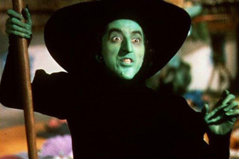 3-е место. Злая ведьма Запада (Маргарет Хэмилтон, «Волшебник страны Оз», 1939 г.)