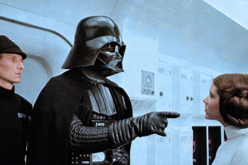 1-е место. Дарт Вейдер (Дэвид Проуз и Джеймс Эрл Джонс, киносага «Звёздные войны»)